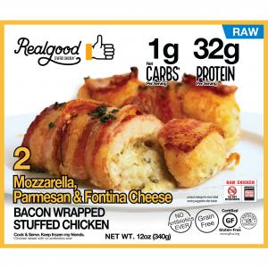Real Good Bacon Wrapped Cheese Stuffed Chicken