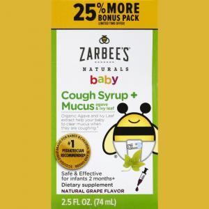 Zarbee's Naturals Baby's Cough Syrup & Mucus Bonus Pack