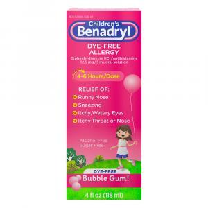 Children's Benadryl Allergy Bubble Gum Flavored