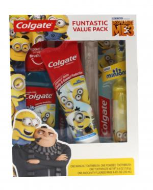 Colgate Holiday Toothbrush, Toothpaste Minions Gift Pack