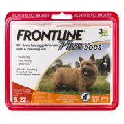 Frontline Plus Doses for Dogs 5 to 22 Lbs.