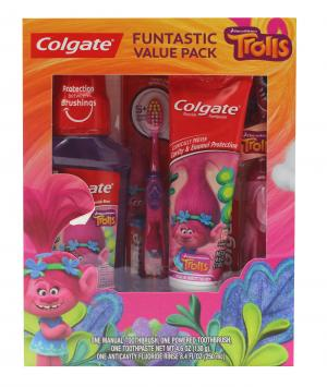 Colgate Holiday Toothbrush, Toothpaste Trolls Gift Pack