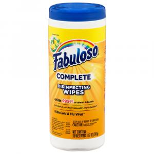 Fabulosos Complete Disinfecting Wipes Lemon