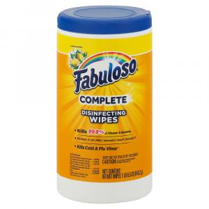 Fabulosos Wipes Lemon Complete Disinfecting Wipes