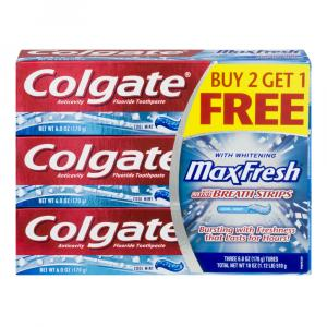 Colgate Max Fresh With Mini Breath Strips Cool Mint