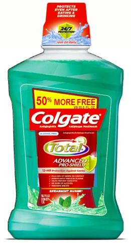 Colgate Total Mouthwash Spearmint Surge 50% More Free