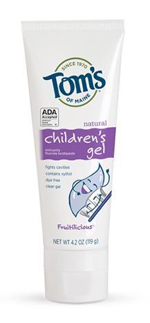 Tom's Of Maine Children's Gel Fluoride Toothpaste
