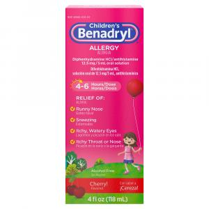 Benadryl Children's Cherry Allergy Liquid