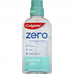 Colgate Zero Fresh Breath Natural Cool Peppermint Mouthwash