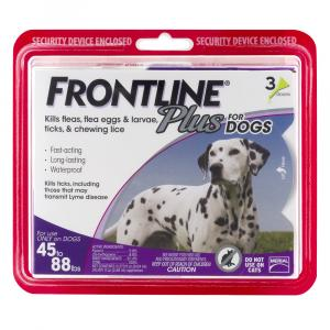 Frontline Plus Doses for Dogs 45 to 88 Lbs.