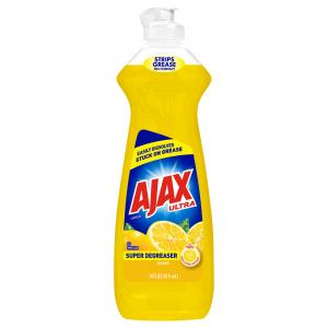 Ajax Ultra Super Degreaser Lemon Liquid Dish Detergent