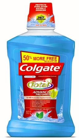 Colgate Total Mouthwash Peppermint Blast 50% More Free
