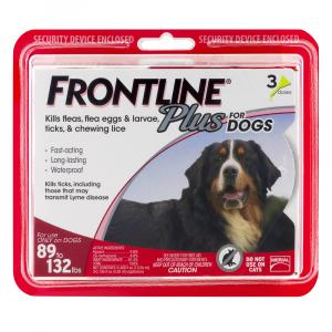 Frontline Plus Doses for Dogs 89 to 132 Lbs.