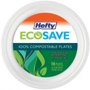 Hefty EcoSave 10-1/8 Inch Compostable Plates