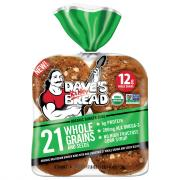 Dave's Killer Organic 21 Whole Grains and Seeds Burger Buns
