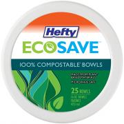 Hefty EcoSave 16 Ounce Compostable Bowls
