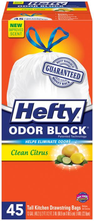 Hefty 13-gallon Tall Kitchen Bags Clean Citrus Scent