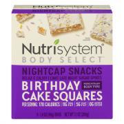 Nutrisystem Body Select Birthday Cake Squares