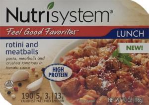 Nutrisystem Rotini And Meatballs