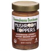 Pennsylvania Dutchman Mushroom Toppers Savory Brown Sauce