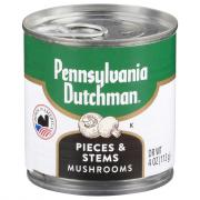 Pennsylvania Dutchman Mushrooms Stems and Pieces