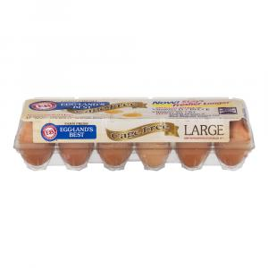 """Eggland's Best Large Brown Cage-free Omega """"grade A"""" Eggs"""