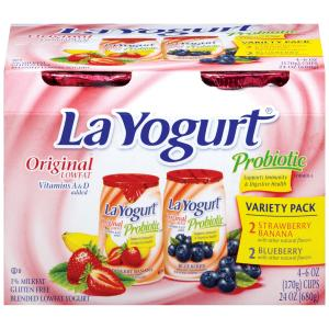 La Yogurt Strawberry Banana & Blueberry Variety Pack