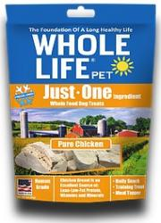 Whole Life Just One Chicken Whole Food Dog Treats