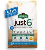 Rachael Ray Nutrish Just 6 Grain Free Turkey Meal & Pea