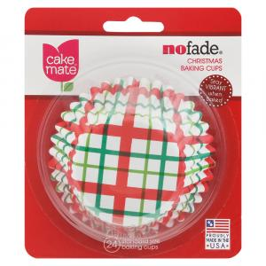 Cake Mate Christmas Plaid Baking Cups
