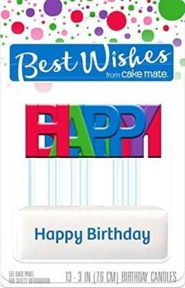 Best Wishes Happy Birthday Candles