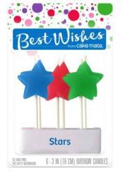 Best Wishes Stars Birthday Candles