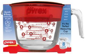 Pyrex 8-cup Measuring Cup With Red Plastic Cover