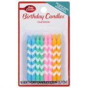 Betty Crocker Chevron Candles