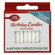 Betty Crocker Medium White Spiral Candles
