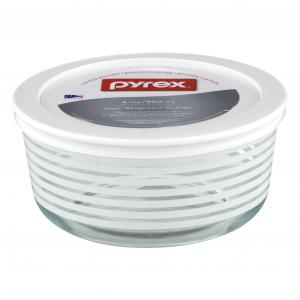 Pyrex Decorating Storage White Stripes