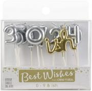 Best Wishes 0-9 Ish Birthday Candles