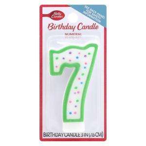 Betty Crocker #7 Birthday Candle