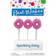 Best Wishes Sparkling Daisy Birthday Candles