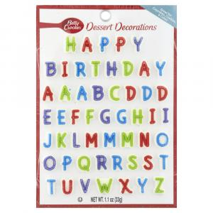 Betty Crocker Primary Happy Birthday Alphabet Candy Card