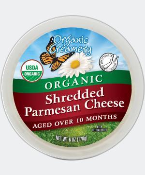 Organic Creamery Organic Shredded Parmesan Cheese