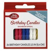 Betty Crocker Medium Rainbow Spiral Candles