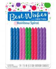 Best Wishes Rainbow Spiral Birthday Candles