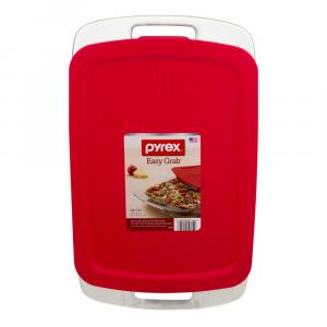 Pyrex Easy Grab 3-Quart Oblong with Red Plastic Cover