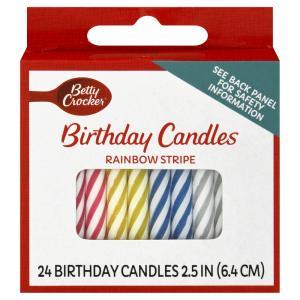 Betty Crocker Peppermint Stripe Candles