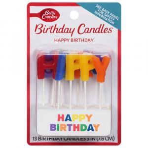 Betty Crocker Happy Birthday Candles