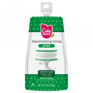 Cake Mate Green Easy-To-Use Decorating Icing