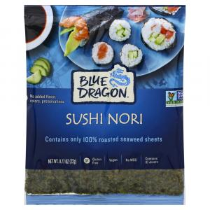 Blue Dragon Sushi Nori Roasted Seaweed Sheets