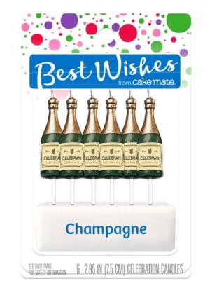 Best Wishes Champagne Celebration Candles