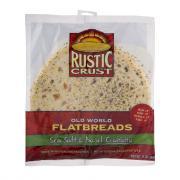 Rustic Crust Old World Flatbreads Sea Salt & Basil Ciabatta